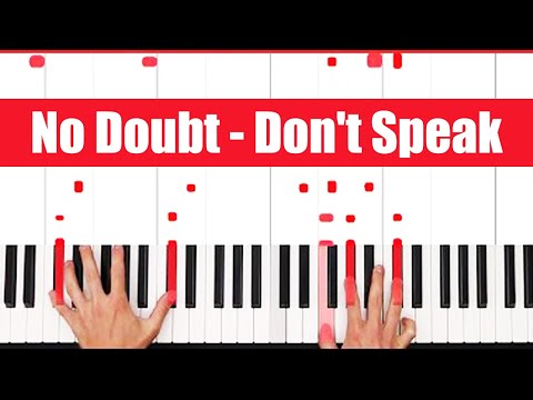Don't Speak No Doubt Piano Tutorial - CHORDS
