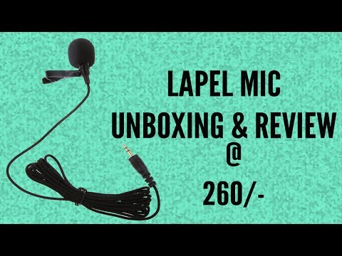 Cheap Lapel mic for Youtube only for 260 rupees | Hindi |