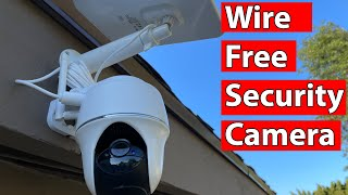 Reolink Argus PT with Solar Panel Unboxing and Review   100% Wire Free Pan and Tilt Security Camera