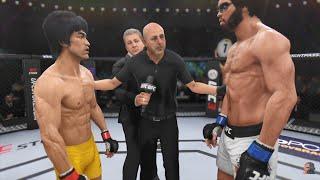 Bruce Lee Vs Hakim Mantis GAME OF DEATH 2K18 | EA Sports UFC 3