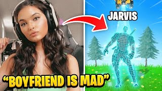 Girlfriend Stream Sniped FaZe Jarvis until he RAGE QUIT FORTNITE