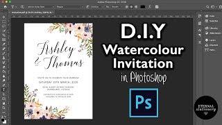 DIY Watercolour Wedding Invitation In Photoshop   How To Create Professional Invitations