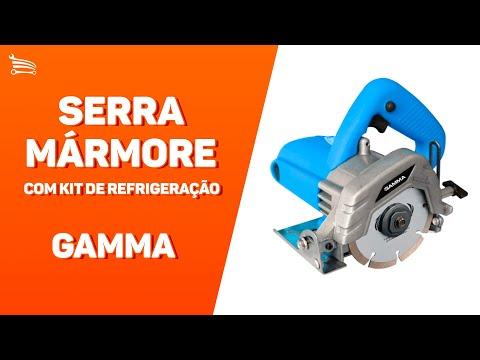 Serra Mármore 110mm 1240W  com Kit de Refrigeração - Video