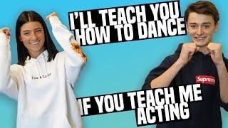 Noah Schnapp Teaches Me How To Act!  |  Charli D