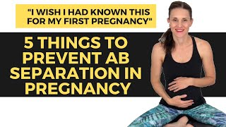 How To Prevent Abdominal Muscle Separation During Pregnancy