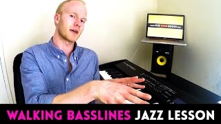 WALKING BASS LESSON: how to write a walking bassline over any progression