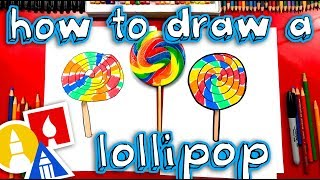How To Draw A Giant Rainbow Lollipop