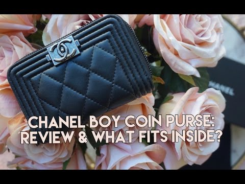 Chanel Boy O-Zip Coin Purse I First Impressions & What Fits Inside? I Chelsey Washington