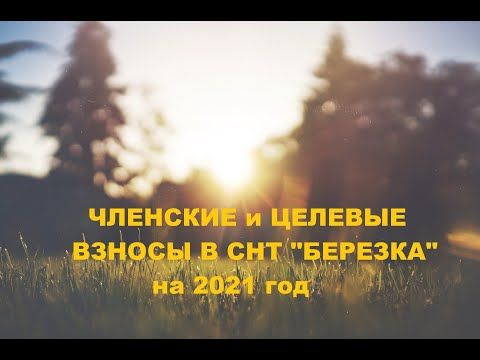 Членские и целевые взносы 2021 года