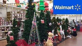 WALMART NEW CHRISTMAS DECORATIONS DECOR SHOP WITH ME SHOPPING STORE WALK THROUGH 4K