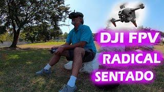DRONE radical ENTRE as ARVORES DJI FPV