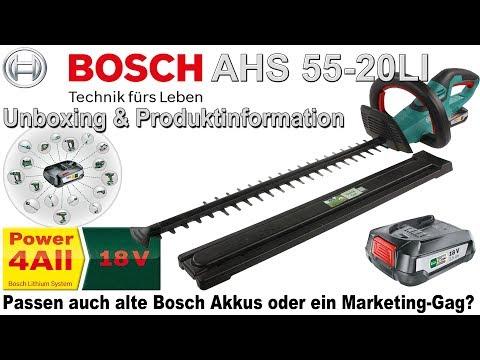Bosch AHS 55 20 LI 18V 2,5Ah Akku Heckenschere | Unboxing & Produktinformation