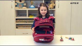 """Ранец школьный каркасный Kite Catsline K18-531M-2 от компании Интернет-магазин """"Радуга"""" - школьные рюкзаки, канцтовары, творчество - видео"""