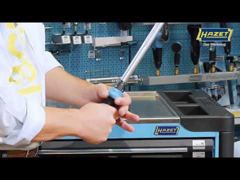 HAZET Drehmoment-Schlüssel mit Umschaltknarre 5122-2CT ∙ ±4% ∙ 4kt 12,5 mm (1/2 Zoll) ∙ 40–200 Nm