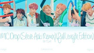 Gambar cover [HAN|ROM|ENG] BTS (방탄소년단) - MIC Drop (Steve Aoki Remix) (Full Length Edition) (Color Coded Lyrics)