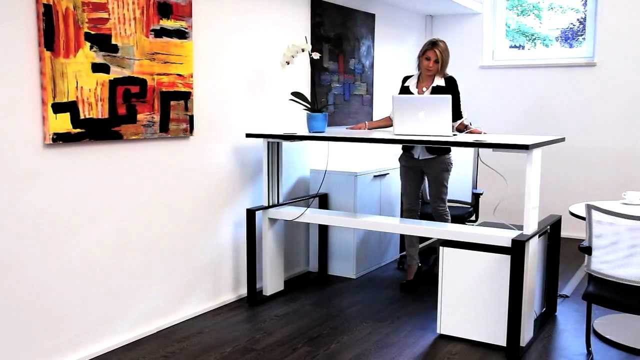 Video zum Arbeitstisch schnellverstellbar iMove-F