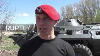Ukraine: LPR fighters battle it out for special forces maroon beret