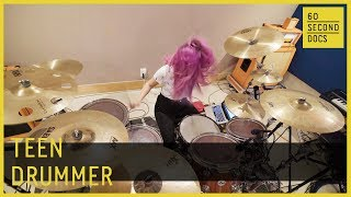 Listening - Teen Drummer | The Warning Band // 60 Second Docs