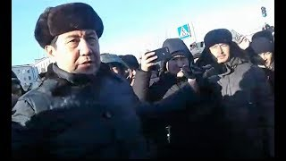 Поведение акима области на митинге в Караганде / БАСЕ