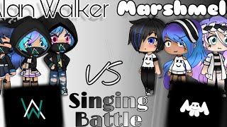 Alan Walker Vs Marshmello Singing Battle | Gacha Life | ( Kinda Part 3?) [ Sorry About Thumbnail]