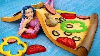 你见过世界上最大的挤挤乐匹萨吗?人头大小的番茄呢?
