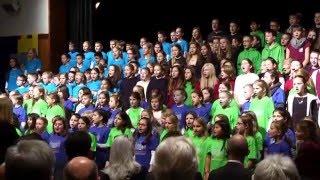 Festakt 1250 Jahre Leutkirch: Kinderchor singt das
