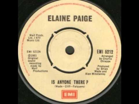 Elaine Paige single 7 - Is Anyone There? -1981