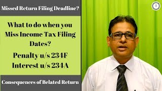 Non Filing of Income Tax Returns | Penalty u/s 234F | Interest u/s 234A | AY 2019-20 | Taxpundit
