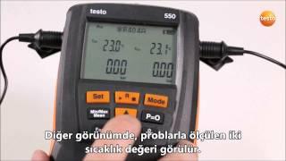 Testo 549-550-557 - Ölçüm Görünümünün Değiştirilmesi