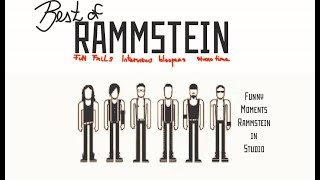 best of RAMMSTEIN | Funny moments, studio moments and interviews