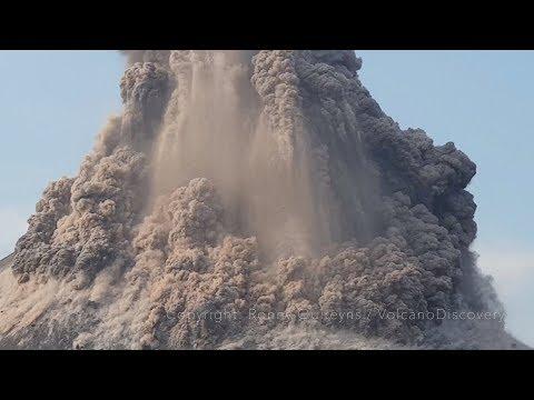 Krakatoa volcano explodes: spectacular huge eruption two months before 2018 tsunami