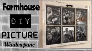 DIY FARMHOUSE/COUNTRY ANTIQUE WINDOWPANE PICTURE FRAME COLLAGE WALL DECOR