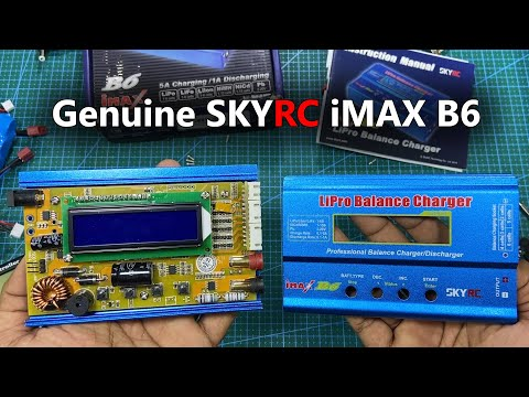 Genuine SkyRC IMAX B6 RC Balance Charger Unbox and Test, What's inside Original iMAX B6