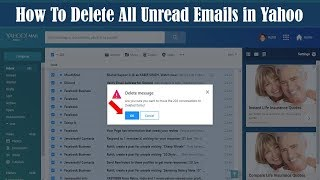 How to Delete All Unread Emails in Yahoo | Easy way to Delete Delete Yahoo Emails at Once