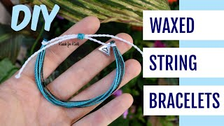 DIY Waterproof Waxed String Friendship Bracelets Inspired By Pura Vida Bracelets