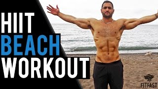 16 Minute Beach Workout: Shoulders, Arms & Upper Back by BarbarianBody