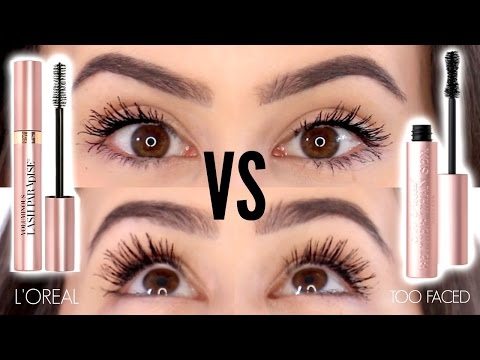 Too Faced Better Than Mascara Dupes || L'Oreal Voluminous Lash Paradise Review