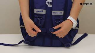 """Рюкзак Kite College Line K18-886M от компании Интернет-магазин """"Радуга"""" - школьные рюкзаки, канцтовары, творчество - видео"""