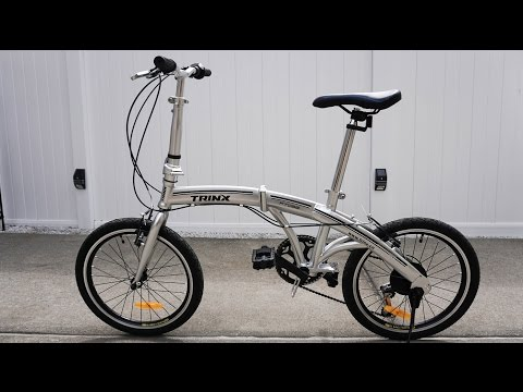 Cheap azz Chinese 6 speed folding bike TRINX 20″ wheels