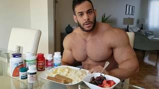 Full Day of Bodybuilder's MEALS! - وجبات يوم كامل لزيادة عضلات بدون دهون
