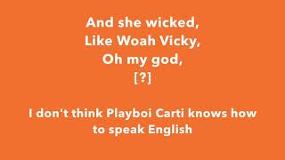 Tyler, The Creator Ft. Playboi Carti    Earfquake (lyrics)