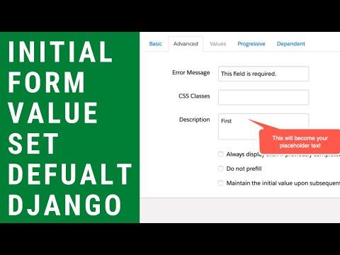 Initial Value in Django Forms - Set Default Form Value thumbnail