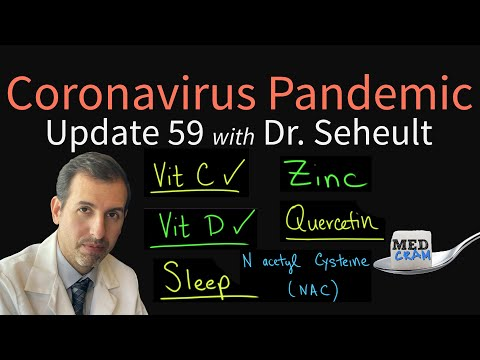 Coronavirus Update 59: Dr. Roger Seheult's Daily Regimen (Vitamin D, C, Zinc, Quercetin, NAC)