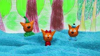 Три кота на природе. Новая серия Три кота. Игрушки Три кота пошли купаться. ИДК