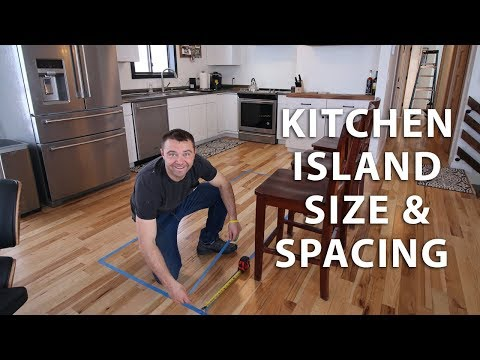 Kitchen Island Size and Spacing Ideas