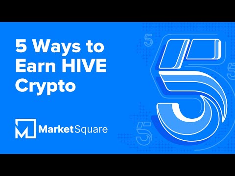 5 Ways to Earn HIVE | Earn Crypto Online | Earn Cryptocurrency