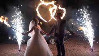 Свадебное огненно-пиротехническое шоу | 4 артиста, 12 минут. Пакет SILVER - видео 2