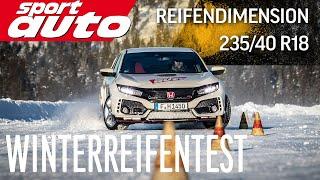 Durch Schnee und Eis - Winterreifentest der  Dimension 235/40 R18 | sport auto