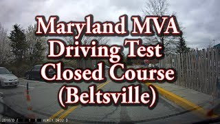 Maryland MVA Driving Test - Closed Course