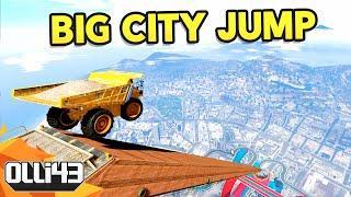 BIG CITY JUMP WITH DUMB VEHICLES - GTA 5 Mods Showcase